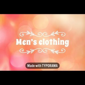 Other - Men's clothing ➡️